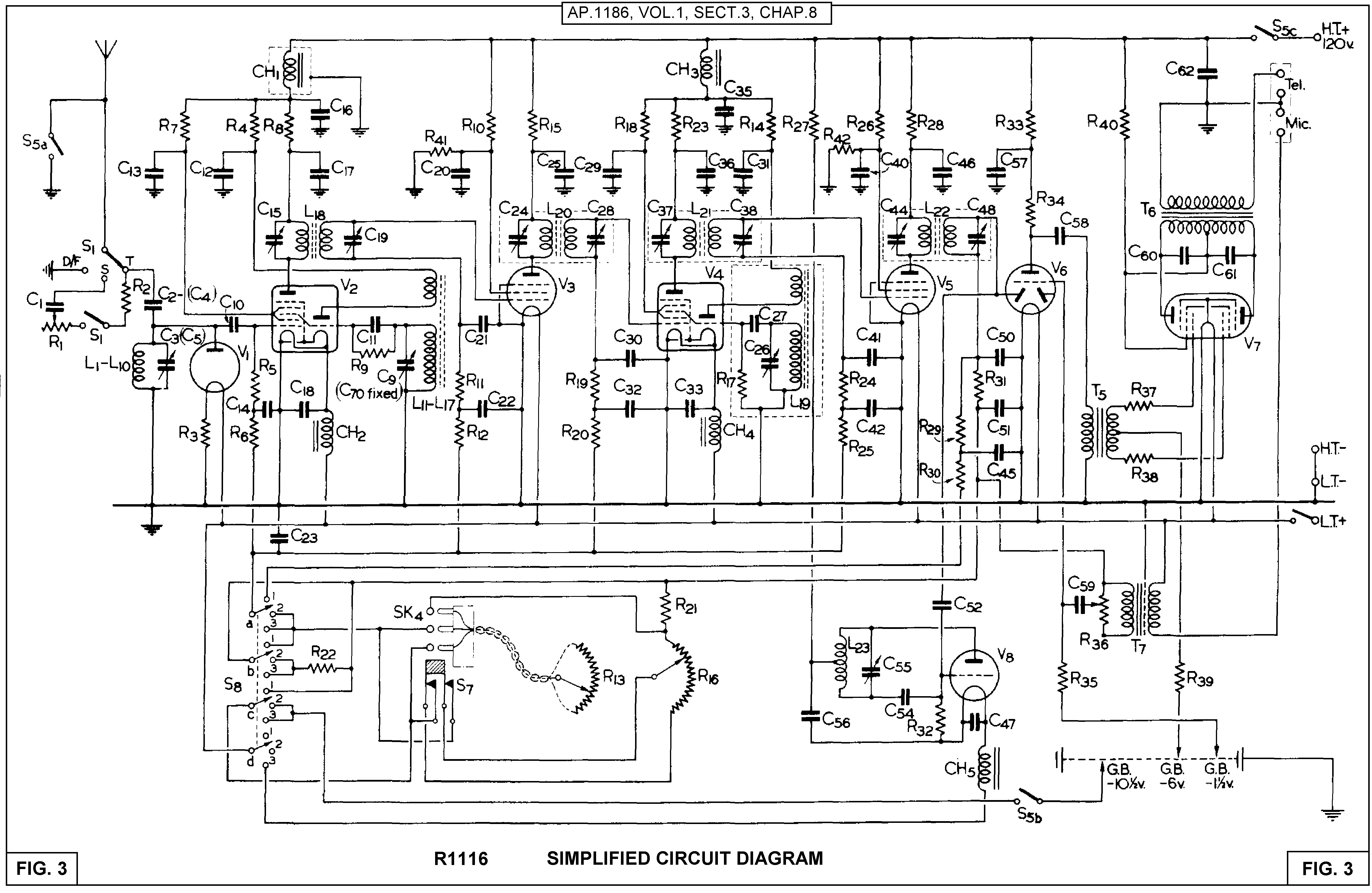 vhf wireless microphone circuit diagram